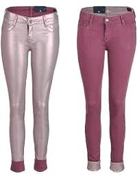 BleuLab Reversible Jeans zum Wenden pink membrane/dye rouge