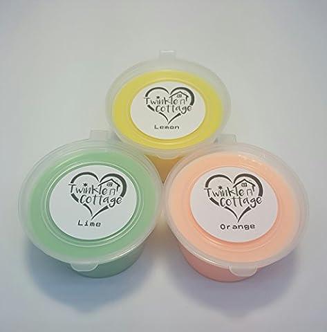 Wachs schmilzt Set–3x 60g Duft wachs tarts/Wachse für Brenner–Orange, Lime & Lemon