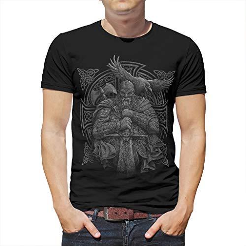 Smakkxx Unisex T-Shirt 3D Druckten Sommer Kurzarm Hülsen Vikings Grafik T Shirts Männer Kreativ Beiläufige Rundhalsausschnitt Shirt white3 medium