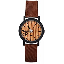 SAMGU Quartz Men Watches Casual Wooden Color Leather Strap Watch Wood Male Wristwatch Style 1