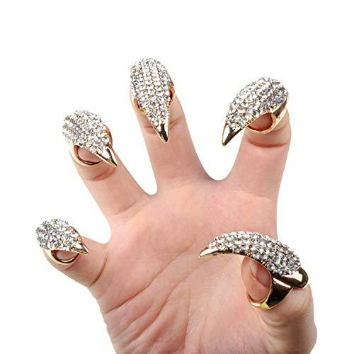 semen Halloween Kostüm Fingerring Aushöhlung Einfacher Verstellbarer Ring Halloween Cosplay Kostüm Schmuck Kollektion Cosplay Dekoration - Gold Kostüm Cocktail Ringe