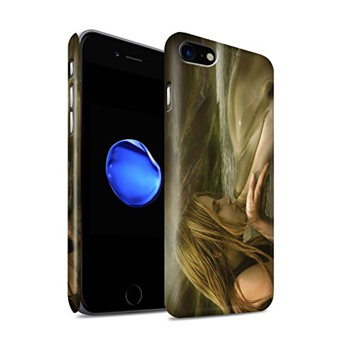 Officiel Elena Dudina Coque / Clipser Matte Etui pour Apple iPhone 7 / Poissons d'Or Design / Agua de Vida Collection Sonrisas/Dauphin