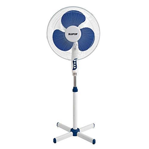 BLUEPOP Ventilateur sur pieds 40 cm 40 W Bleu Blanc