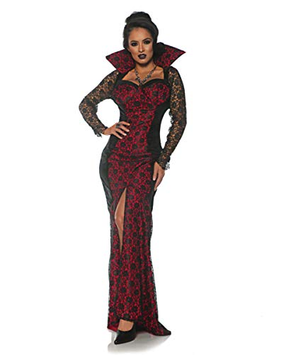 Horror-Shop Mistress of The Night Vampirkönigin Damenkostüm für Halloween L