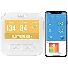 iHealth BPM1 Monitor de presión arterial de brazo inalámbrico inteligente ...