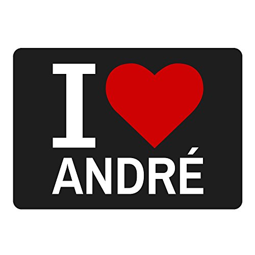 Mousepad Classic I Love André schwarz (Andres Bikini)