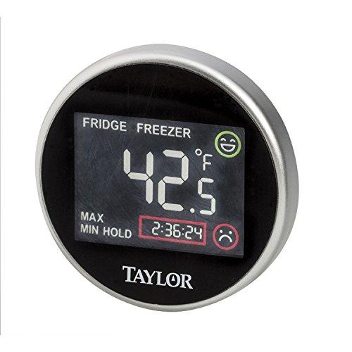 Taylor Digital Kühlschrank/Gefrierschrank Thermometer mit der Zeit Monitor (schwarz) Taylor-digital-thermometer
