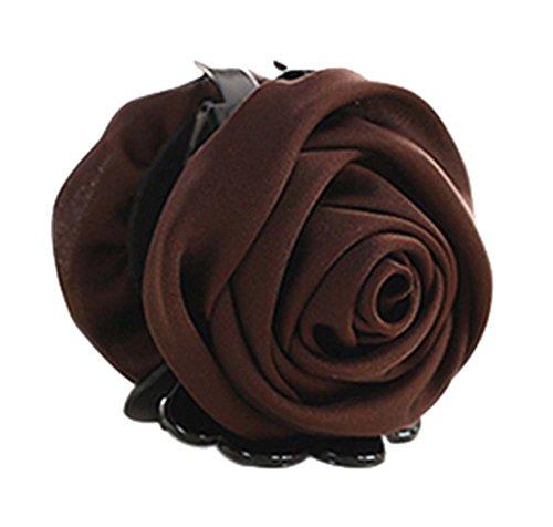 un Belles Clips Rose Fleur Cheveux Ponytail clip, brun