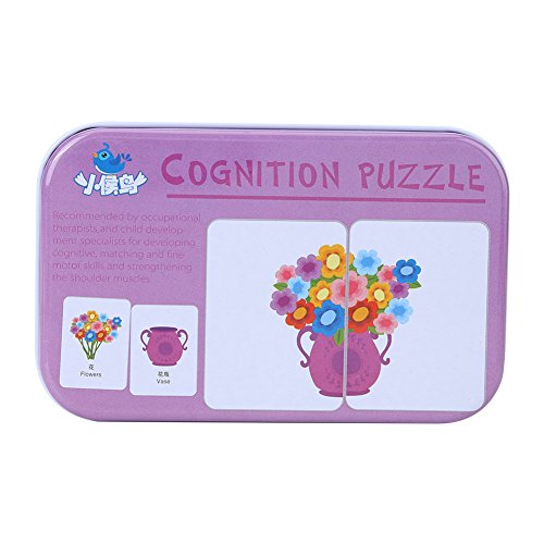 Tier/Obst/Lebende Güter Matching Lernspiel Pädagogisches Spielzeug mit Eisen Aufbewahrungsbox für Babys und Kleinkinder(#4) ()