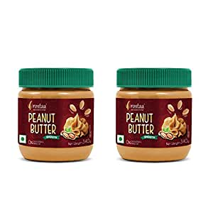 Rostaa Peanut Butter Smooth 340gm (Combo of 2)