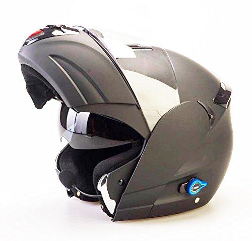 Viper RS V131Bluetooth adultos motocicleta moto Flip Up casco negro mate nueva, mediano