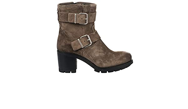 Paoyama Boots Femme Taupe 38: : Chaussures et Sacs