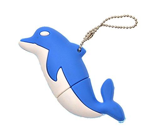 FEBNISCTE Blau Delphin Figur 32GB USB 2.0 USB-Stick