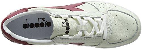 Diadora B.Elite L, Scarpe Sportive Uomo, Bianco (Bianco/Rosso Tibetano), 44 EU