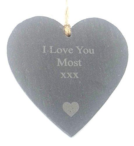 I love you die meisten kleinen Slate Herz Dekorative Ornament Dekoration Dekorationen Plaque Geschenke Romantische Geschenke für Ihm Ihre