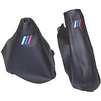 The Tuning-Shop Ltd FOR BMW 1 SERIES E81 E82 E87 E88 07-12 Manuale Cambio e Freno a Mano in Pelle Nera