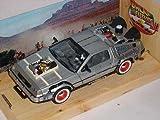 DeLorean DMC Zurück in die Zukunft Teil 3 1/24 Welly Modell Auto mit individiuellem Wunschkennzeichen
