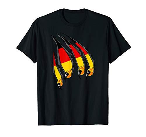 Deutsche Fahne Shirt Adler Krallen Und Deutschland Flagge T-Shirt