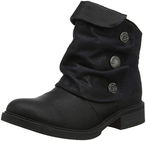 Blowfish Damen Vynn Stiefeletten, Schwarz (Black Rocksteady/Microfiber 516), 40 EU - Blowfish Stiefel Schuhe