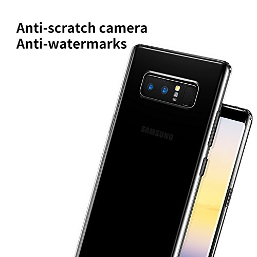 Sanchar's for samsung note8 case Back Cover Shock Absorbing protective Transparent Black case cover + TPU bumper for samsung galaxy note 8 award wining military grade tech protection ShockShield + Aircushion Technology anti brust armor professional protection for samsung note8 / note 8 / - Black transparent