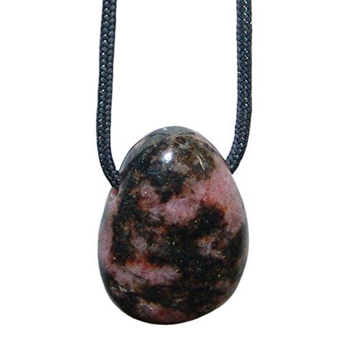 Rhodonit und viele andere Steinsorten flache Edelsteine/Trommelsteine Anhänger gebohrt
