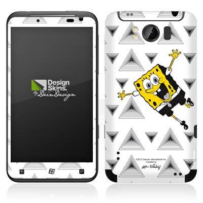 Preisvergleich Produktbild HTC Titan Case Skin Sticker aus Vinyl-Folie Aufkleber Spongebob Fanartikel Merchandise Triangle Mono