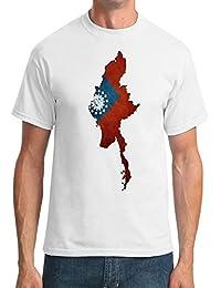 Map Myanmar Birmania de la bandera de birmana - para hombre T-Shirt