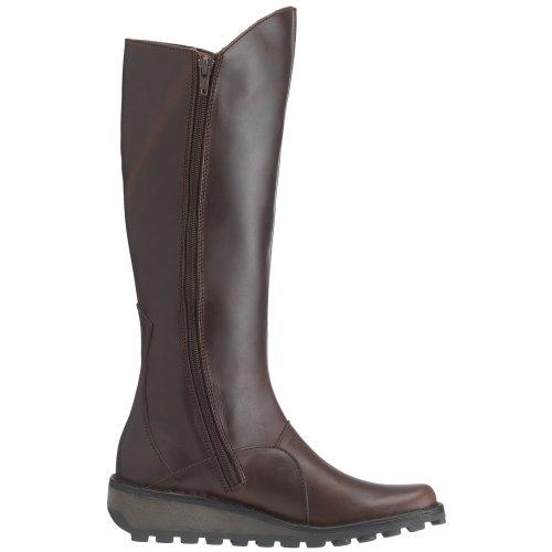 Fly London - Mol Leather, Stivali da Donna Marrone(Dk Brown)