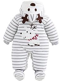 Vine Combinaison bébé père Noël + chaussure Enfant Grenouillère à Manches Longue Pèrè Noël Barboteuse