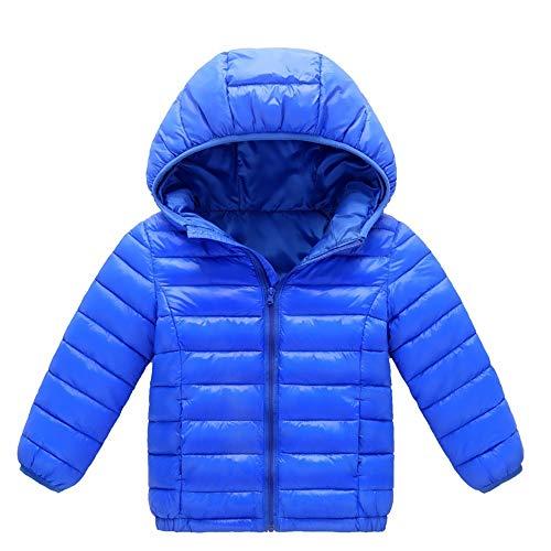 Bazhahei bambini,cappotto di piumino da ragazzi e ragazza invernale, 0-8anni capispalla con cappuccio e cerniera in cotton tinta unita caldo leggero addensare antivento giacche imbottito giubbotti