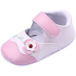 EOZY Zapatos Para Bebé Niñas Niños Primero Paso Andar Un Flor Otoño Pirmavera Rosa Longitud 13cm
