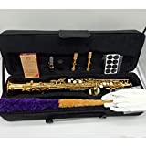 Marke neue Musik FANCIER Club Sopran-Saxophon s-991 Gold Lack Messing Saxophon