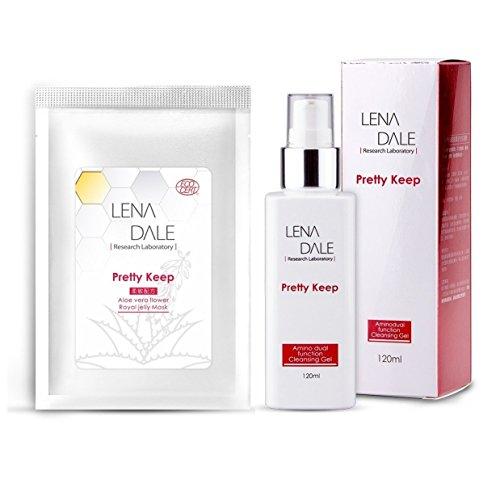 661f48703b6 Lena Dale Organic Amine Acid Double Effect Cleansing Gel 120ml + Aloe Vera  Flower Royal Jelly