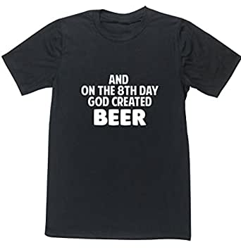 Hippowarehouse and on The 8th Day God Created Beer Unisex Short Sleeve t-Shirt (Specific Size Guide in Description)