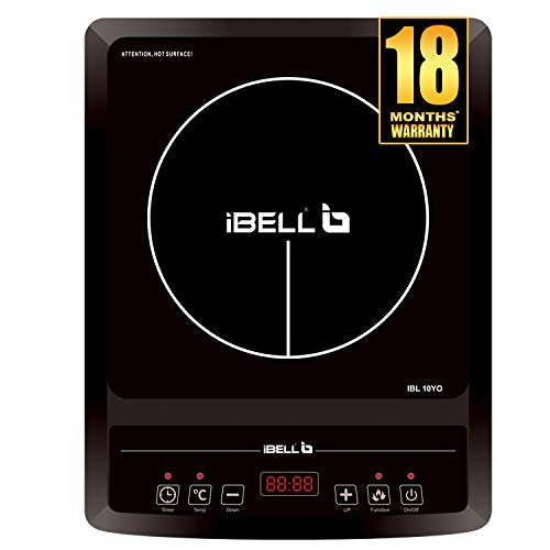iBELL Hold The World. Digitally! Induction Cooktop 2000 W with Auto Shut Off and Overheat Protection