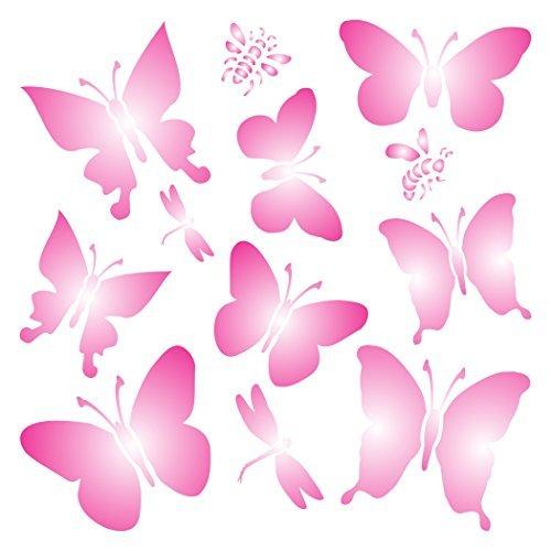 Schmetterlinge Schablone Wiederverwendbare Schablonen für Malerei–Beste Qualität Scrapbooking Valentines Ideen–Verwendung auf Wände, Böden, Stoffe, Glas, Holz, Plakate, und mehr... m