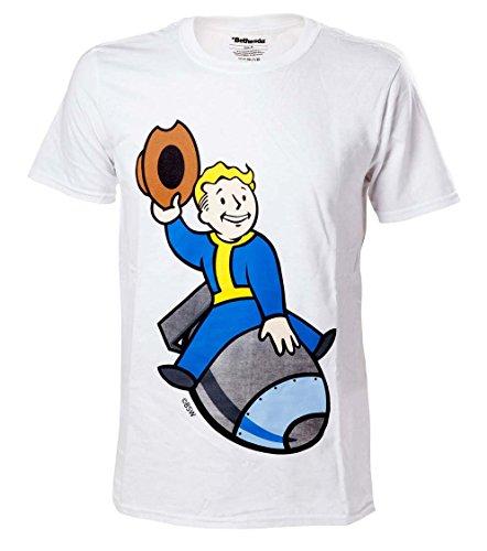fallout 4 t shirt Fallout 4 T-Shirt -XL- Boy Bomber, weiss