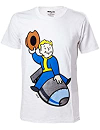 Meroncourt Men's Vault Boy Bomber Short Sleeve T-Shirt, White, Medium