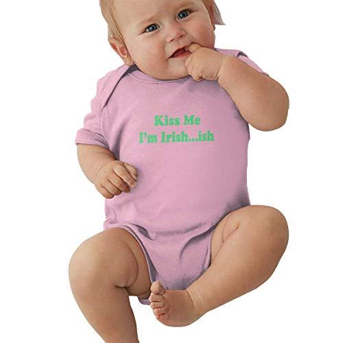 Babybekleidung Jungen Mädchen T-Shirts, Newborn Baby Girl's Bodysuit Short-Sleeve Onesie I'm Irish-ish Print Rompers Autumn Pajamas -