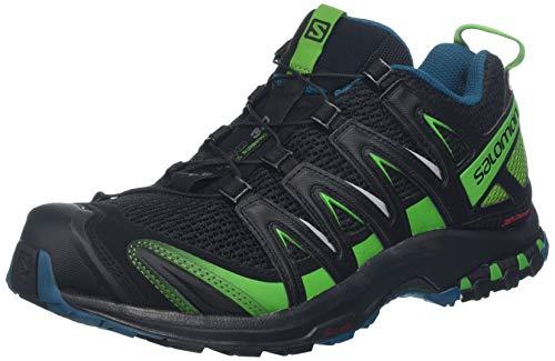 Salomon xa pro 3d, scarpe da trail running uomo, nero (black/deep lagoon/onlime lime), 44 eu