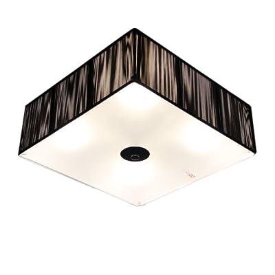 s`luce [Twine] BLACK Deckenlampe 4-flammig, 35x35cm/H12cm, schwarz LD002 35x35/H12 BK von Licht-Design Skapetze GmbH & Co KG - Lampenhans.de