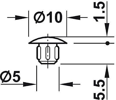 Gedotec Schrauben-Abdeckungen grau Blindstopfen rund - H1120 von Gedotec - Gartenmöbel von Du und Dein Garten