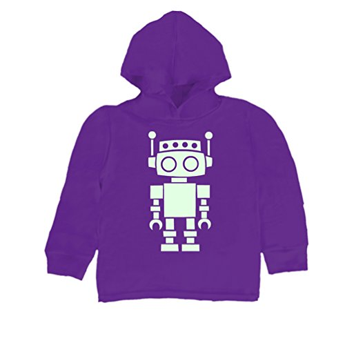 Inda-Bayi Baby-Toddler-Kids Cotton Hoodie T-Shirt - glow in the dark robot