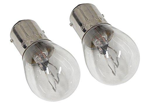 Aerzetix - Set di 2 lampadine, 12V P21/5W luci posteriori, luci laterali per auto