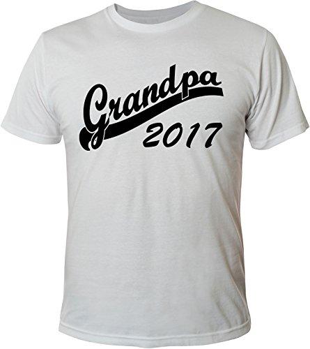 Mister Merchandise Herren Men T-Shirt Grandpa 2017 Tee Shirt bedruckt Weiß