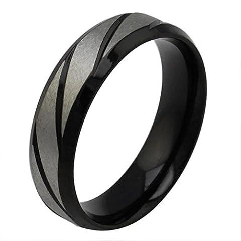 amdxd Bracelet jonc en acier inoxydable hommes de doigt Anneaux de mariage Bandes twills