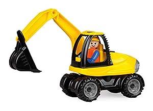 Lena Truckies Excavator vehículo de Juguete - Vehículos de Juguete (Negro, Amarillo, Excavadora, Interior / Exterior, 2 año(s), Niño, 105 mm)