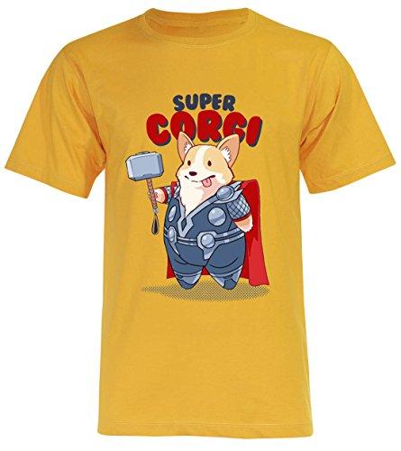 PALLAS Unisex Corgi Cute Puppy I AM LOAF Funny T-Shirt Blue