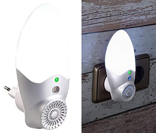 Exbuster Mückenschreck: Steckdosen-Mücken-Schreck & LED-Nachtlicht, Licht-Sensor, bis 30 m² (Mücken-Stecker)