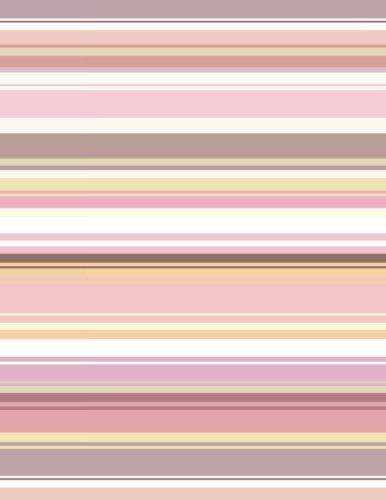 2017, 2018, 2019 Weekly Planner Calendar - 70 Week - Stripe Polka Dot Art: Horizonal Stripe Pattern, Pink, Brown, Yellow, White - Pink Stripe Dress Shirt
